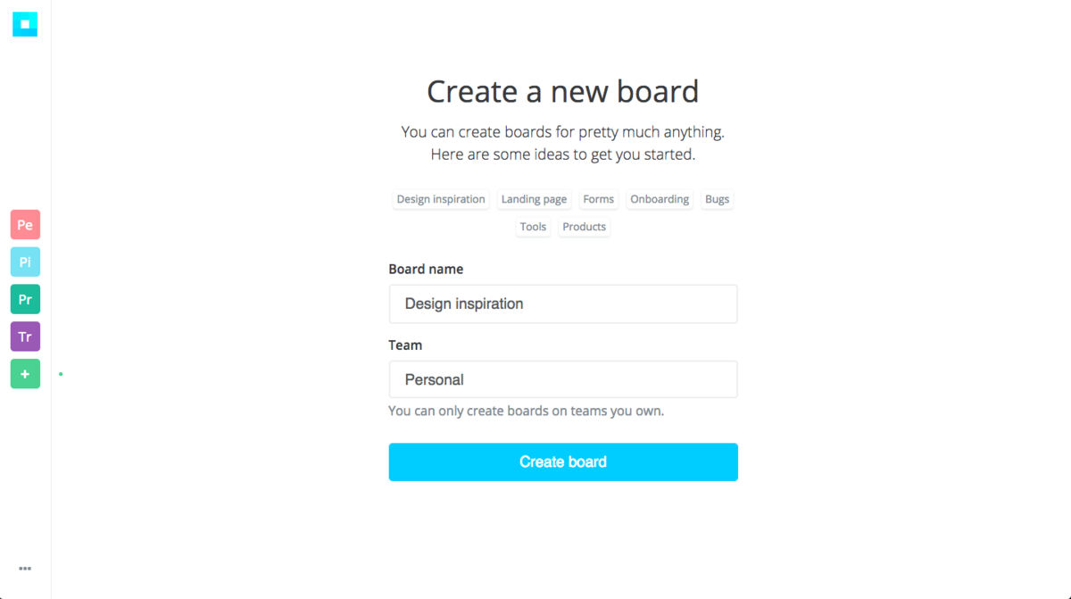 Creating boards
